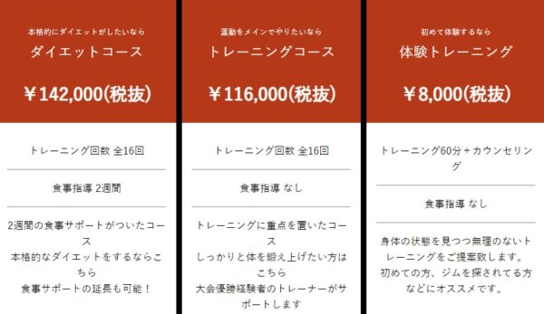 WILL BE(ウィルビー)の料金